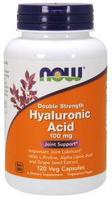 NOW Foods HYALURONIC ACID 100MG 2X PLUS 120 VCAPS 3151