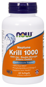 NOW Foods Krill Oil, Neptune 1,000 mg 60sg 1627