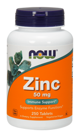 NOW Foods Zinc Gluconate 50 mg 250 Tabs 1522