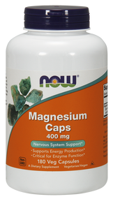 NOW Foods Magnesium 400 mg 180 vcaps 1283