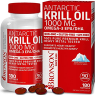 Bronson Bronson - Antarctic Krill Oil 1000mg with Astaxanthin, 180 Softgels