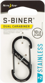 S-Biner® SlideLock® Stainless Steel #2 - Black