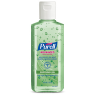 PURELL Advanced Hand Sanitizer Soothing Gel 4 fl oz Portable Flip Cap Bottle