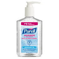 PURELL Advanced Hand Sanitizer Gel 8 fl oz Table Top Pump Bottle