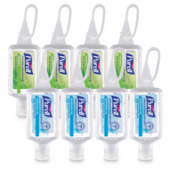 PURELL Advanced Hand Sanitizer Gel - Variety Pack 1 fl oz Portable Jelly Wrap Flip Top Squeeze Bottles
