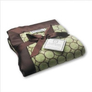 Swaddle Designs Stroller Blanket in Pastel with Brown Mod Circles Color: Lime