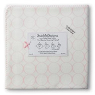 Swaddle Designs Ultimate Receiving Blanket - White with Pink Mod Circles