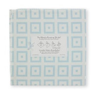 Swaddle Designs Ultimate Receiving Blanket - Very Light Blue with Pastel Blue Mod Squares