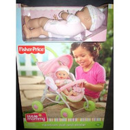 Fisher Price - Little Mommy Newborn Doll AND Stroller Set