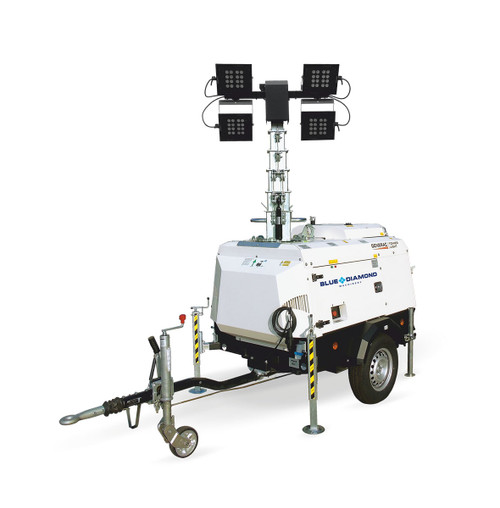 Generac VT Hybrid Light Tower Mounted on Trailer