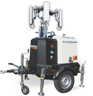 Generac V20 Hybrid Light Tower Mounted on Trailer