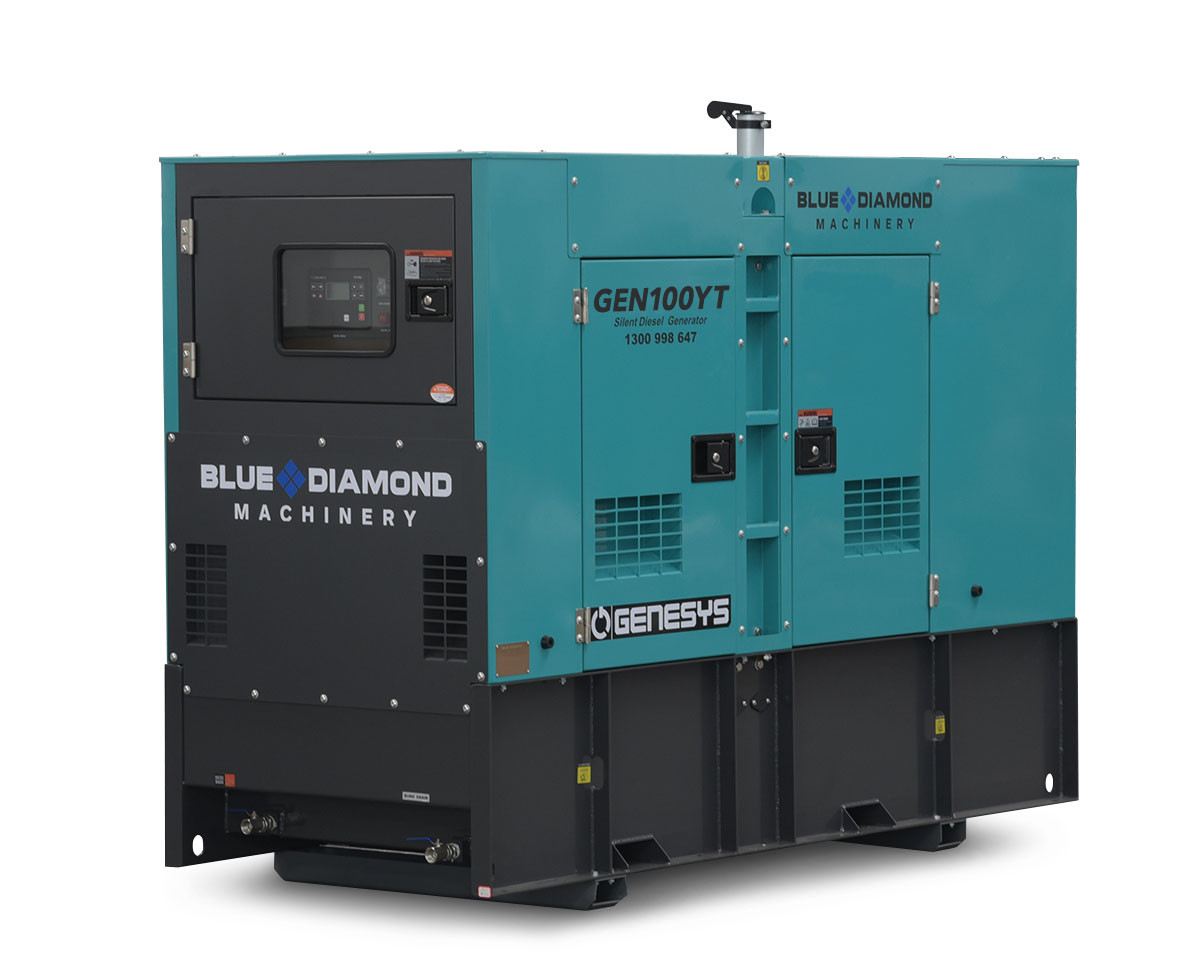 100 Kva Diesel Generator 3 Phase 415v Izuzu Blue Diamond Perth Melbourne