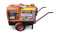 Kubota Generator 6KVA - GL6000 Lowboy 3 - Wheel Kit & Steel Bund