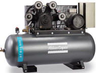 Atlas Copco Piston Air Compressor - 15HP, 73.5FM, 500L