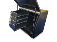 Black Steel Mine Series Tool Box with Drawers- W900