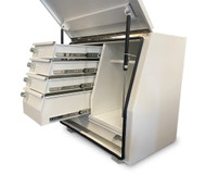 White Steel Mine Series Tool Box with Drawers- W900