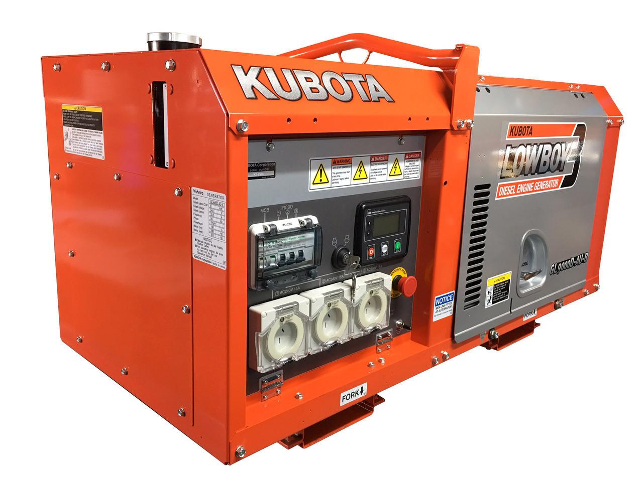 Kubota Generator 9KVA - GL9000 Lowboy 3 - DeepSea Controller