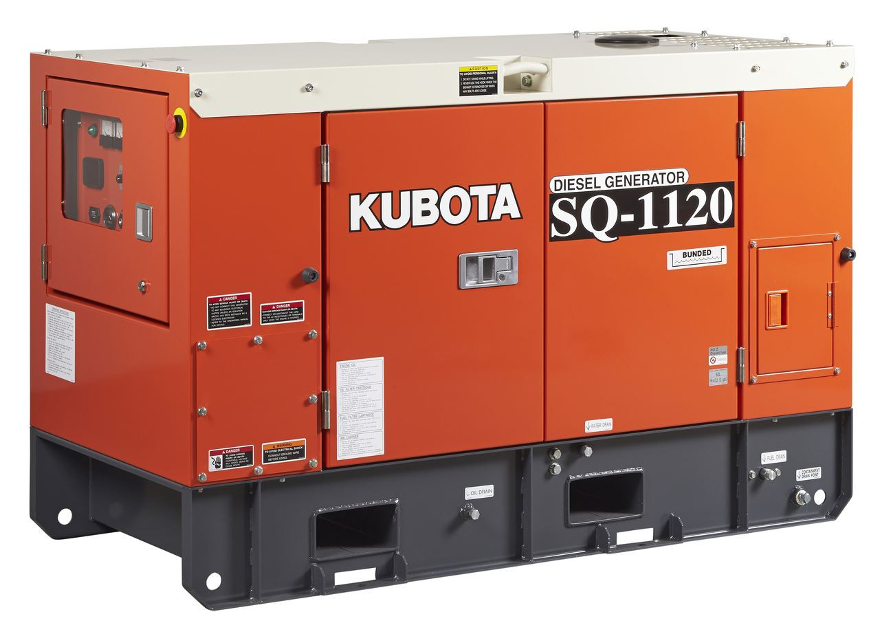 Kubota Generator 20KVA 3 Phase- SQ3200