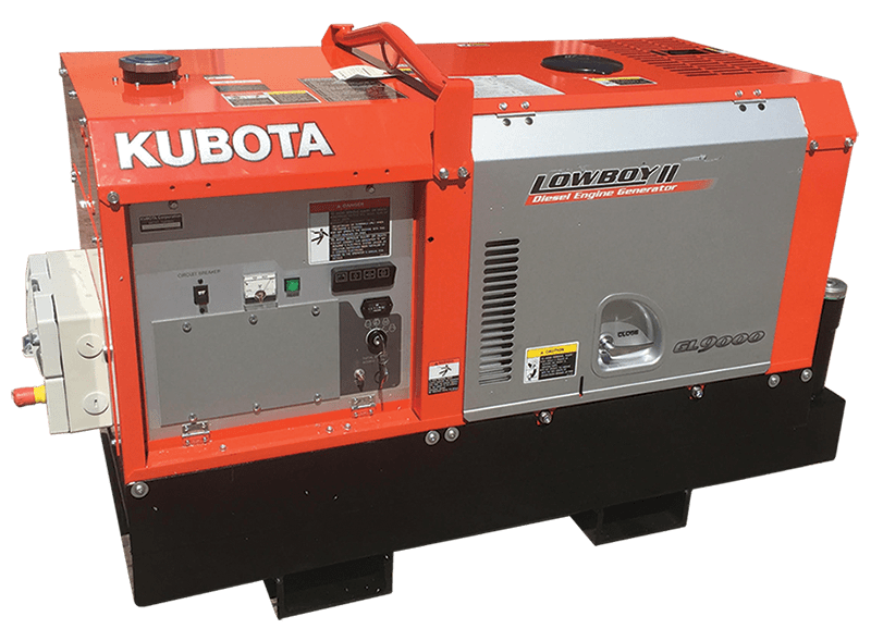 8KVA Kubota Lowboy Diesel Engine- Blue Diamond Machiners