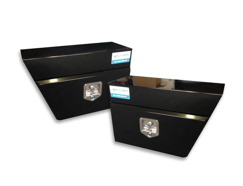 Combo Package - left and right underbody tool box- Steel, Black