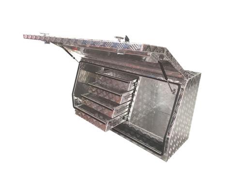 Full Door, 4 Draw Aluminium Tool Box for ute or truck