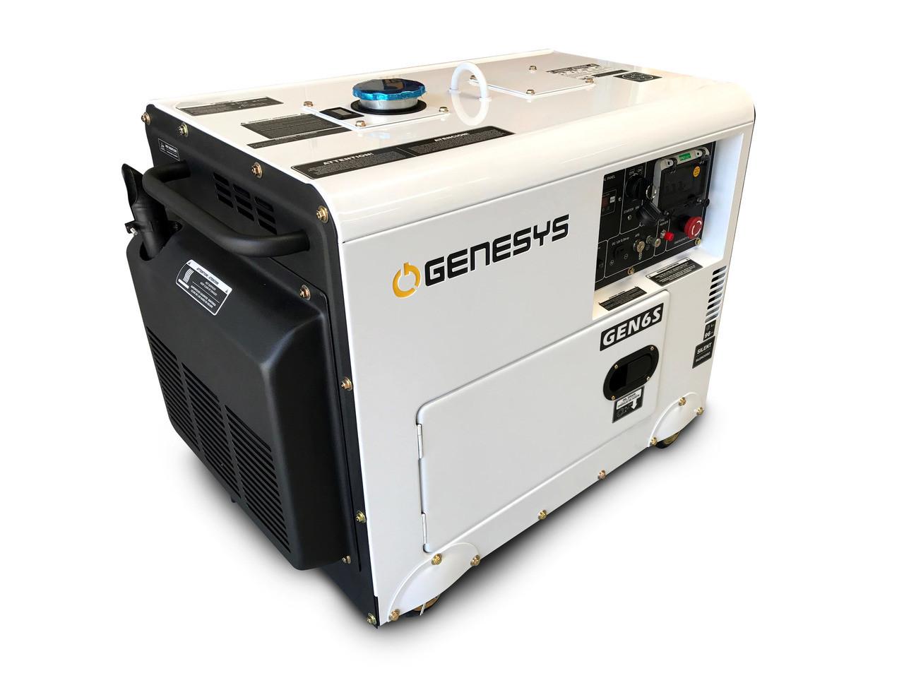 6kva Diesel Generator Portable Silenced Canopy Blue Diamond Bestdieselgeneratorcom