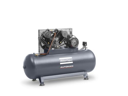 Atlas Copco Piston Air Compressor- 5.5HP, 19CFM, 270L