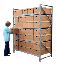 Extra Bay - Long Span Shelving 2M H X 600mm D X 2.4M Wide (4 Levels)