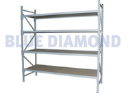 Exta Bay - Long Span Shelving 2M H X 600mm D X 1.8M Wide (4 Levels)