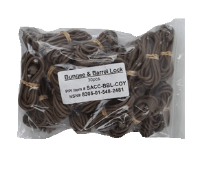 Bungee and Barrel Lock Coyote Brown 30 Pack New