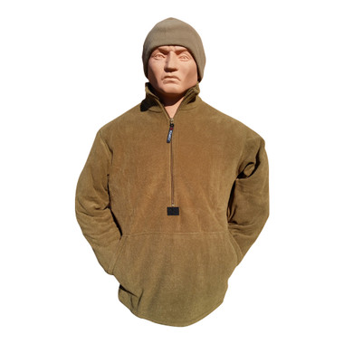 This fleece pullover is both stylish and functional