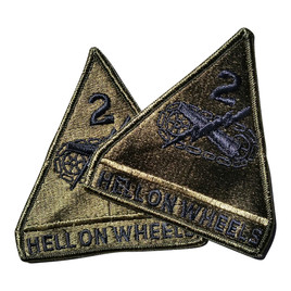 "2nd Armored Division ""Hell on Wheels"" Unit Patch"