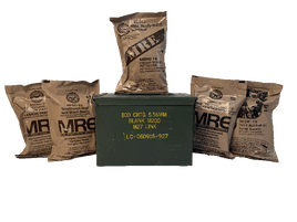 FAT 50 Cal Can w/ 5-Pack Military MRE