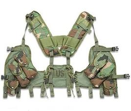 camo load bearing vest
