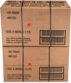 Sopakco 24ct US Military Surplus MRE Meals Ready to Eat 2021