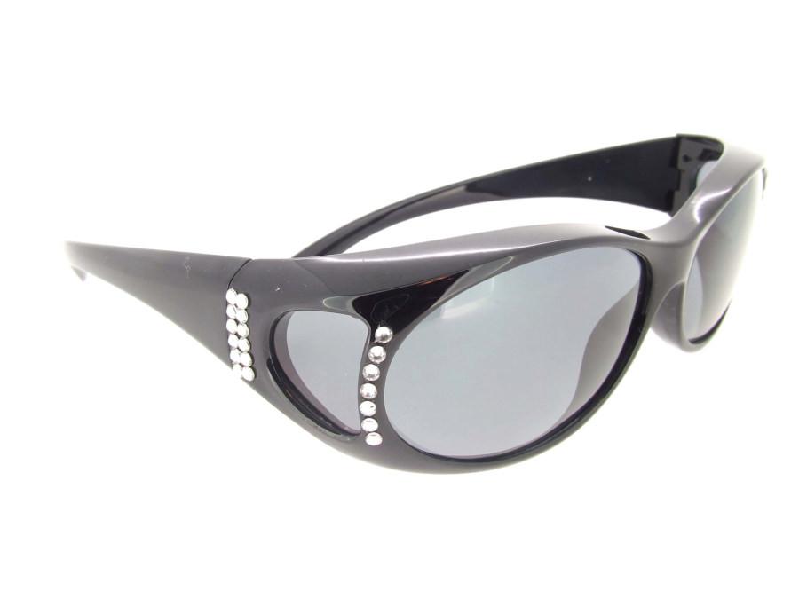 7318f79b30 Loading zoom. Sunglasses Over Glasses Polarized UV400 Black Frame - Gray  Lenses with ...