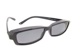 Smallest Sunglasses Over Glasses Polarized UV400 Black Frame - Gray Lenses