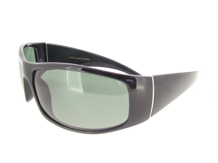 17b3d4b7eb Wrap Around Sunglasses Black Frame - Gray Polarized Lenses. Loading zoom