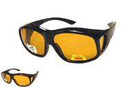 Large Sunglasses Over Glasses Yellow Lenses FO35Y