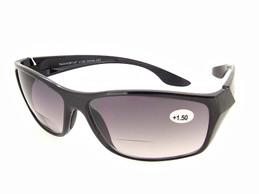 Black Frame - Gray Bifocal Lens Sunglasses