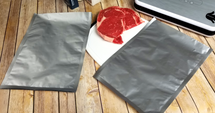 "10""x14"" Hot Seal Textured/Embossed 1 Gallon Aluminum Foil/Mylar Vacuum Bags - (Case of 500)"