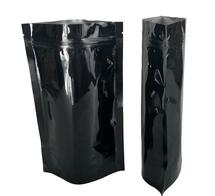 (100) Solid Black Mylar Storage Bags Odor, Oxygen, Moisture and Light-proof
