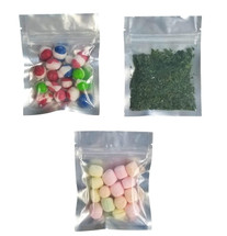 "(100) 3.5""x4.5"" 5 Mil Ziplock Mylar Bag (Black, Red, Yellow, Green, Silver, Solid or Clear Front)"