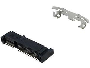 Add a Product - Mini PCI Express Socket, H=5.6mm, GF With Latch 5.6H (one piece), w/Cap