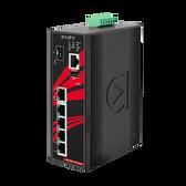 6-Port Industrial PoE+ Gigabit Light Layer 3 Managed Ethernet Switch (EOT: -40~75C, 12~36VDC)