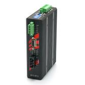 Industrial RS-232/422/485 To Fiber Converter, 2.5KV Isolation, Single Mode 30KM, SC Connector (EOT: -40??C ~ 75??C)