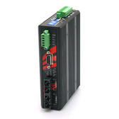 Industrial RS-232/422/485 To Dual Fiber Ports Converter, 2.5KV Isolation, Multi-Mode 2KM, SC Connector (EOT: -40??C ~ 75??C)
