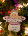 Sweet 16 Snowman Personalized Ornament