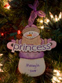 Princess Snowman Personalized Ornament