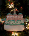Grandkids Snowmen Personalized Ornament 3